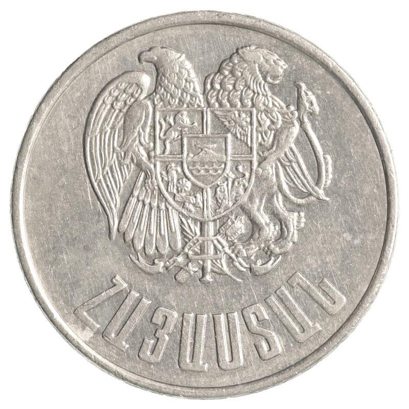 10 armenische Dollar Münze stockfotografie
