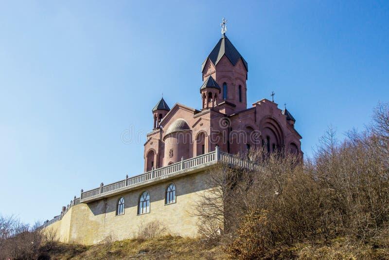 Armenisk kyrklig sikt kyrkliga ecuador berg Armenisk kyrka i berg royaltyfri foto
