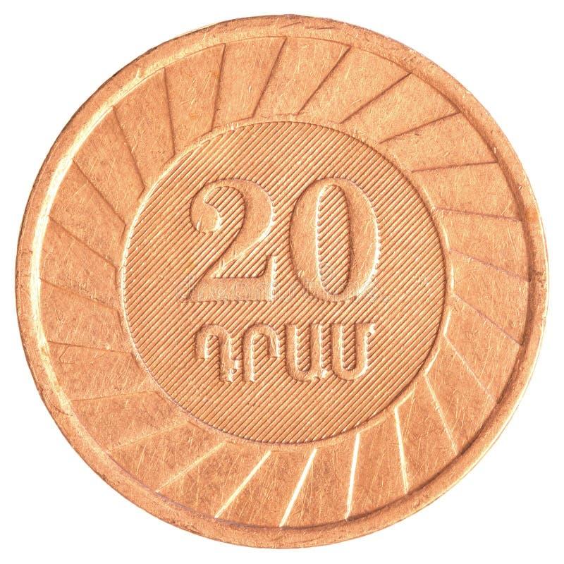 20 armeniska dollar mynt fotografering för bildbyråer