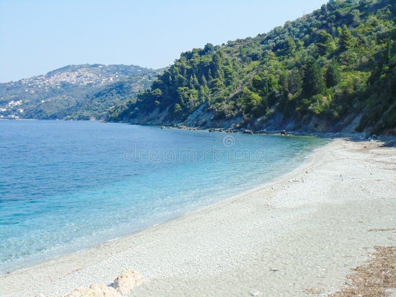 Armenopetra plaża na Skopelos wyspie obrazy royalty free