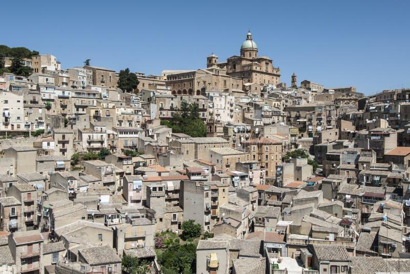 Armerina enna Sicília Itália Europa da praça fotografia de stock