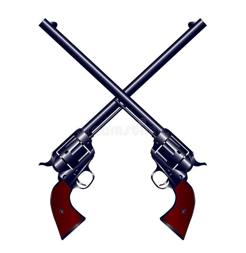 Armes à feu croisées illustration de vecteur