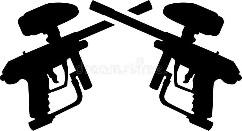 Armes à feu croisées de Paintball illustration libre de droits