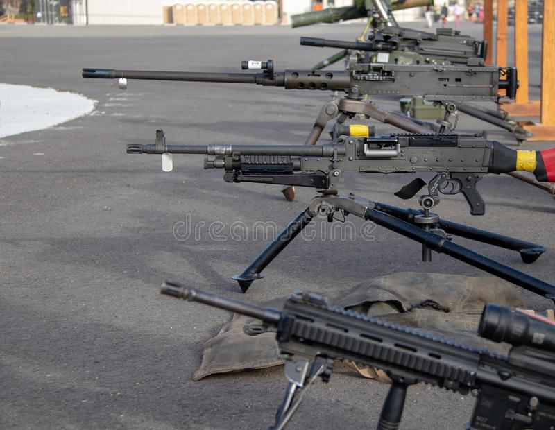 Armes d'infanterie aux marines Facilty des USA en Californie photographie stock