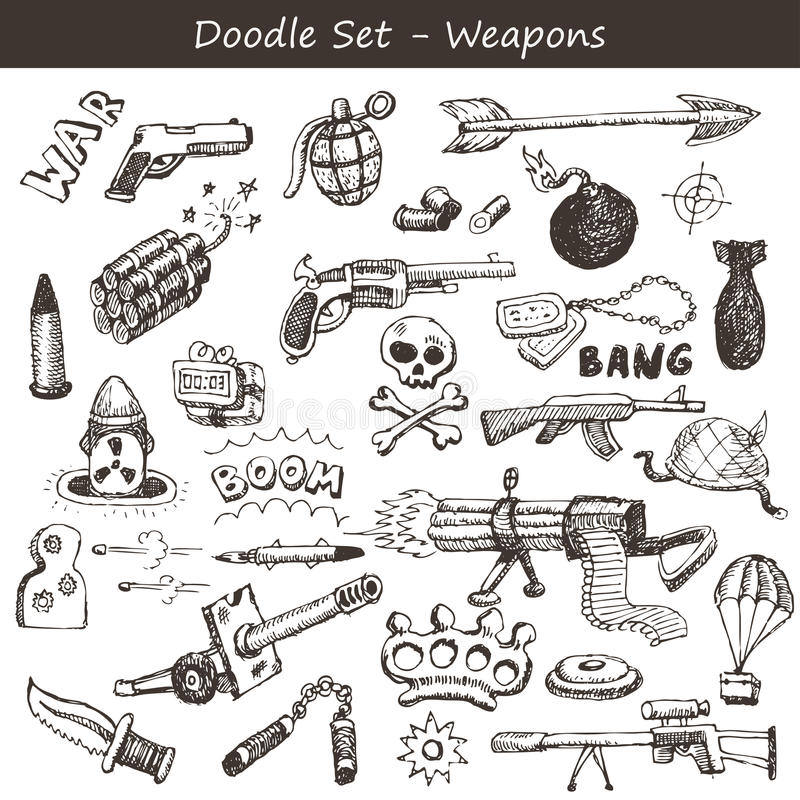 Armes de griffonnage illustration libre de droits