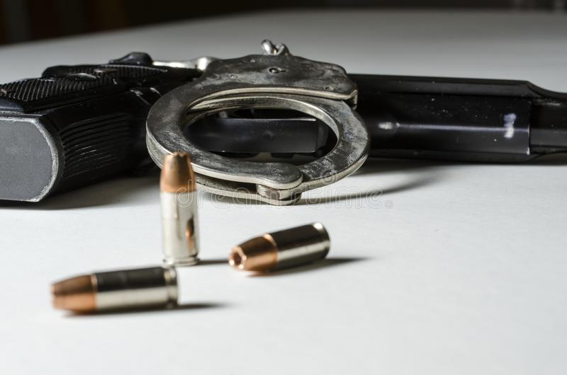 Armes de police image stock