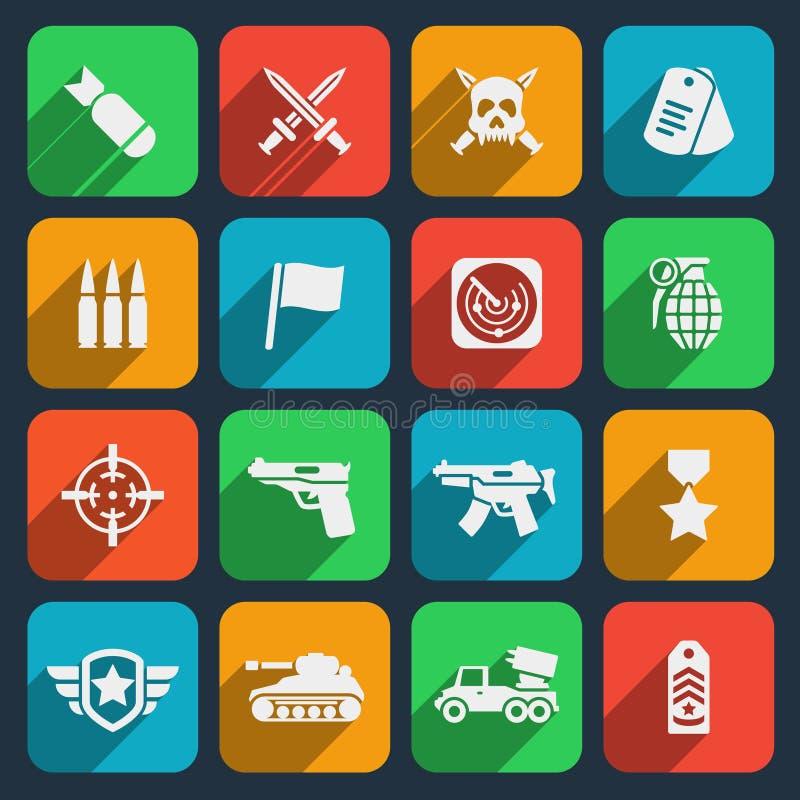 Armes et icônes de munitions illustration libre de droits