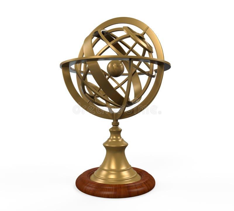 Armilarna sfera ilustracja wektor