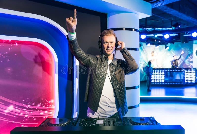 Armin van Buuren, wax sculpture, Madame Tussaud. Armin van Buuren OON, is a Dutch DJ, record producer and remixer from South Holland. Museum of Madam Tussaud in royalty free stock images