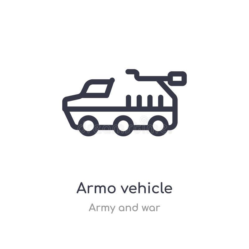 armo pojazdu konturu ikona odosobniona kreskowa wektorowa ilustracja od wojska i wojny kolekcji editable cienieje uderzenia armo  ilustracji