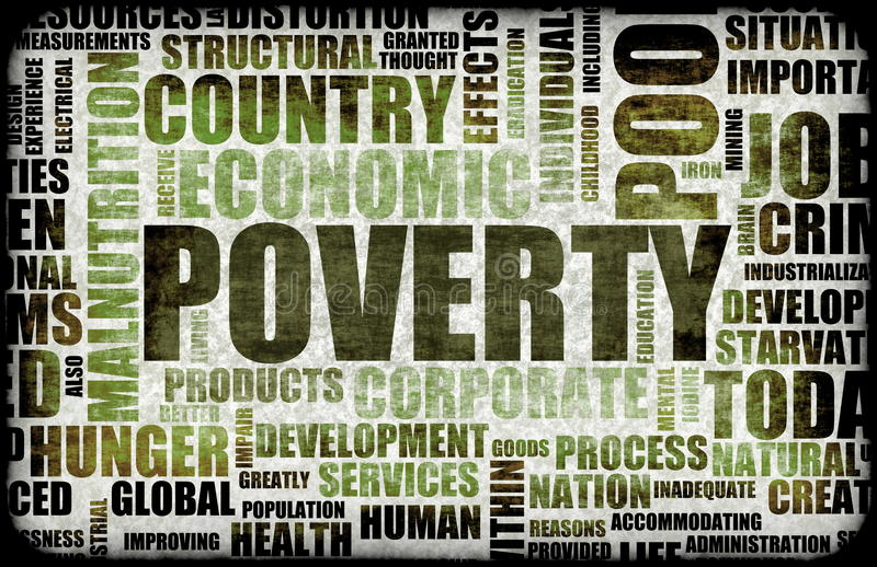 Armoede stock illustratie