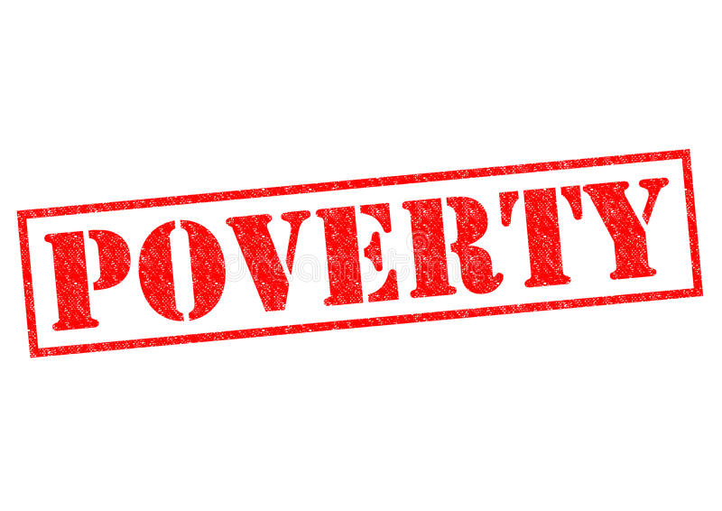 armoede royalty-vrije illustratie