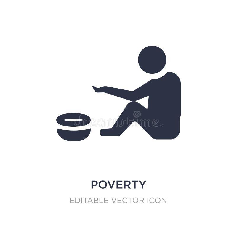 armoedepictogram op witte achtergrond Eenvoudige elementenillustratie van Algemeen concept stock illustratie