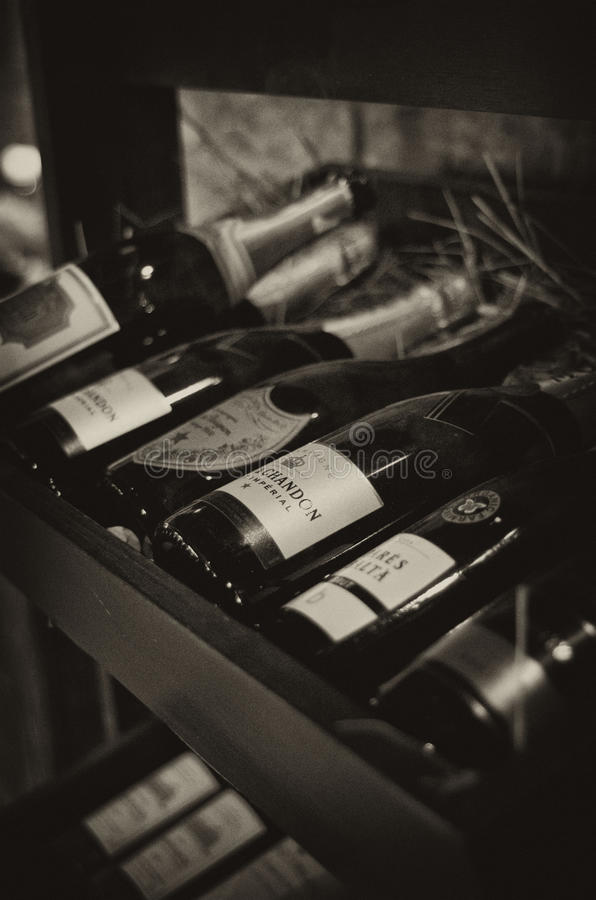 Armoire de Champagne photographie stock libre de droits