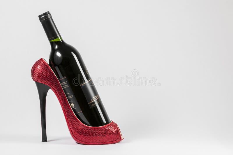 Armoire de vin de chaussure photos stock