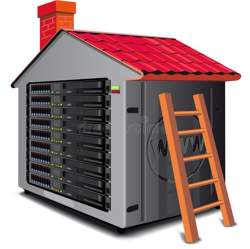Armoire de web server illustration stock