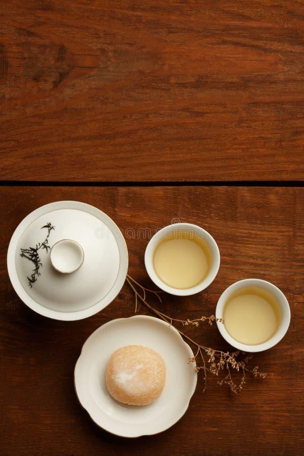 Armonía del té y de los dulces foto de archivo
