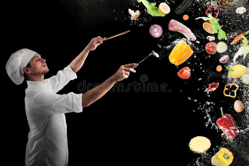 Armonía musical de la comida imagen de archivo libre de regalías