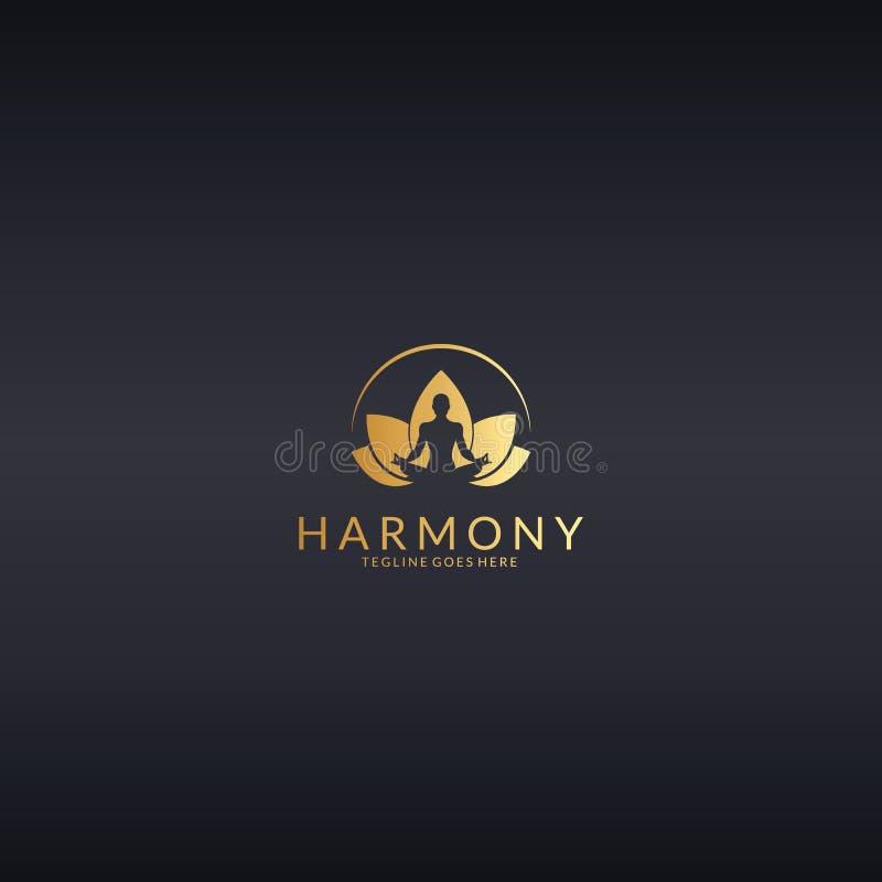 armonia Logo di yoga illustrazione vettoriale