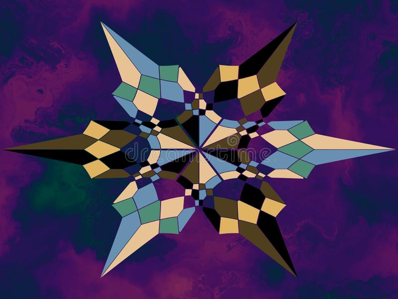 Armonioso geometrico di forme illustrazione di stock