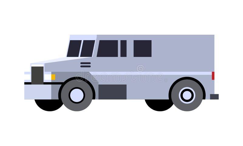 Armored тележка наличных денег бесплатная иллюстрация