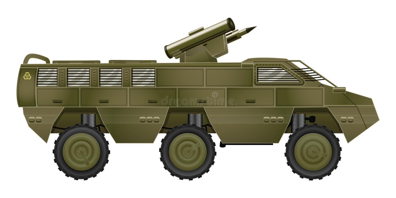 armored bäraresoldat stock illustrationer