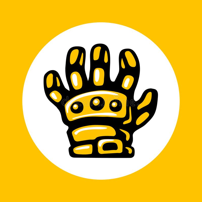 Armored gloves icon in trendy flat style isolated on white background vector illustration