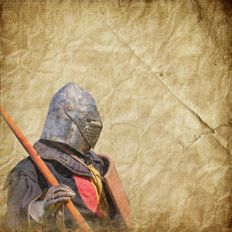 Free Armored Knight - Retro Postcard Stock Image - 39723601