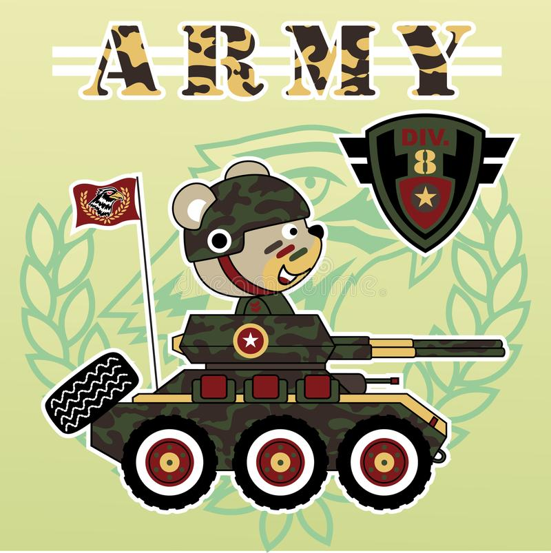 armored medel stock illustrationer