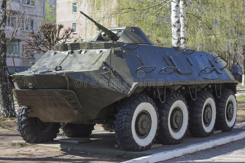 Armored personnel carrier infantry fighting vehicle.military equipment stock image