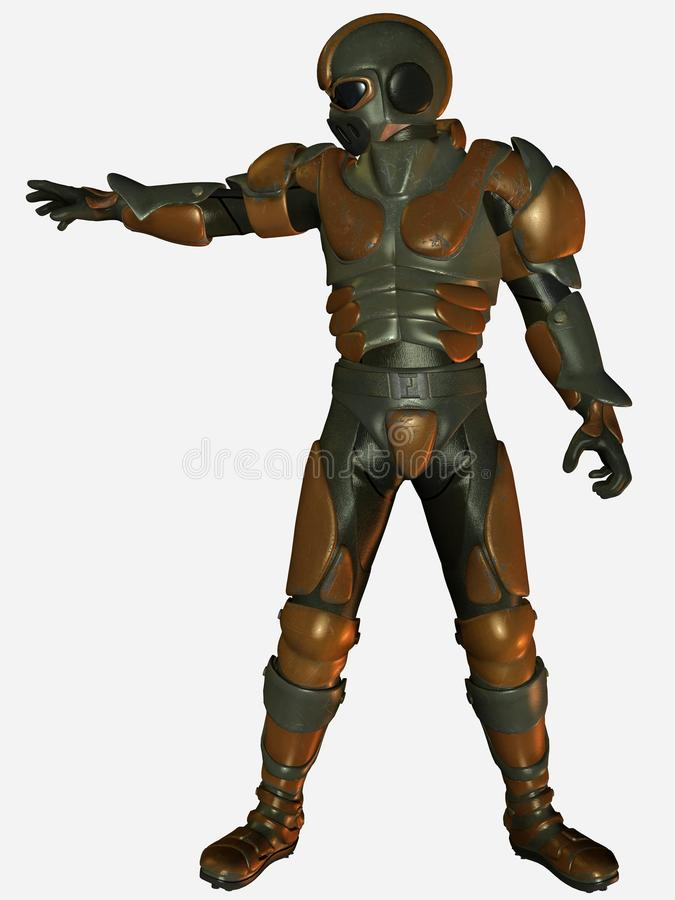 Armored Soldier Stock Photo