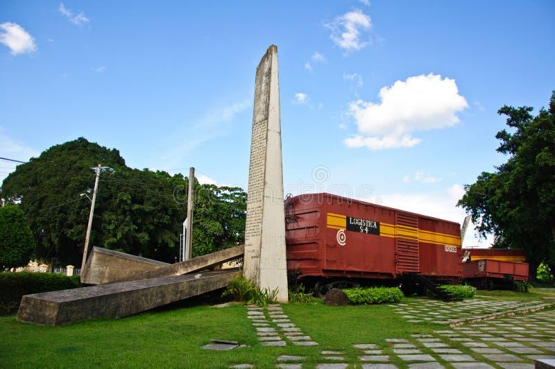 The Armored Train monument in Santa Clara, Cuba stock photo