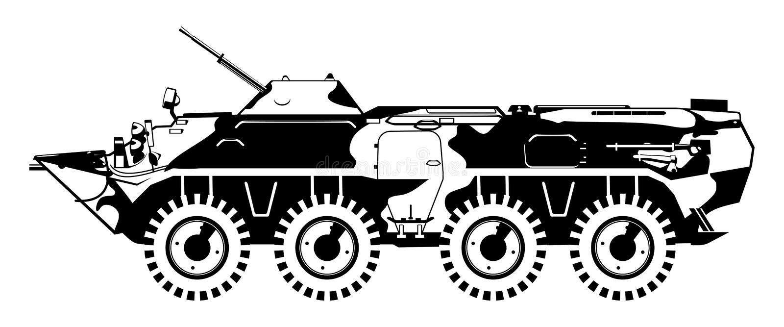 Armored Troop-carrier. Royalty Free Stock Photo
