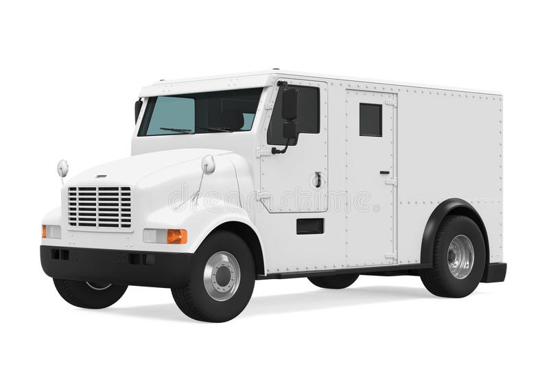 Armored Truck Isolated stock illustration