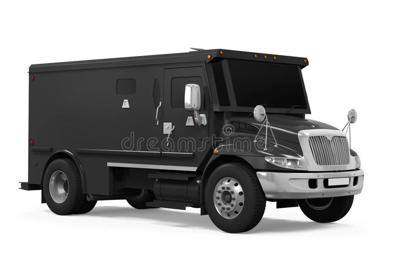 Armored Truck Isolated royalty free illustration