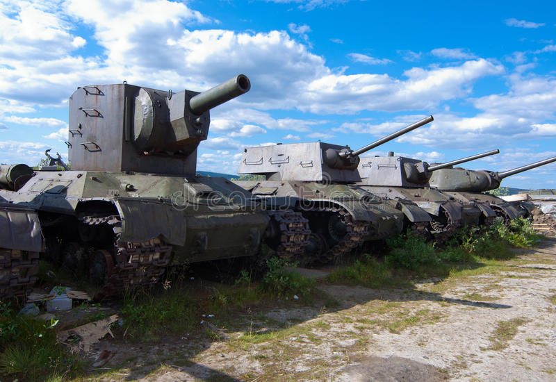 Armored vehicles during the Second World War royalty free stock images