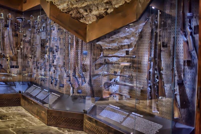Armory gun exhibition, Historical Museum of Estonia stock photography