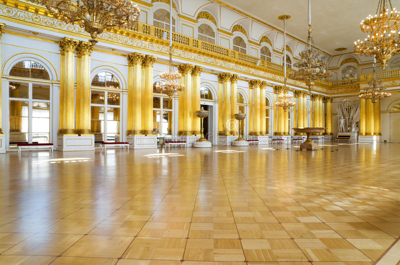 Armory hall in Winter Palace, St. Petersburg royalty free stock photos