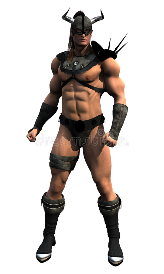 Download Armoured Barbarian stock illustration. Image of male, muscular - 4895855