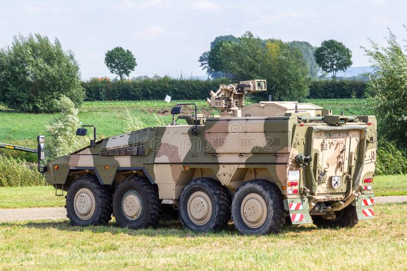Armoured fighting vehicle, afv from german army. Stands on field royalty free stock image