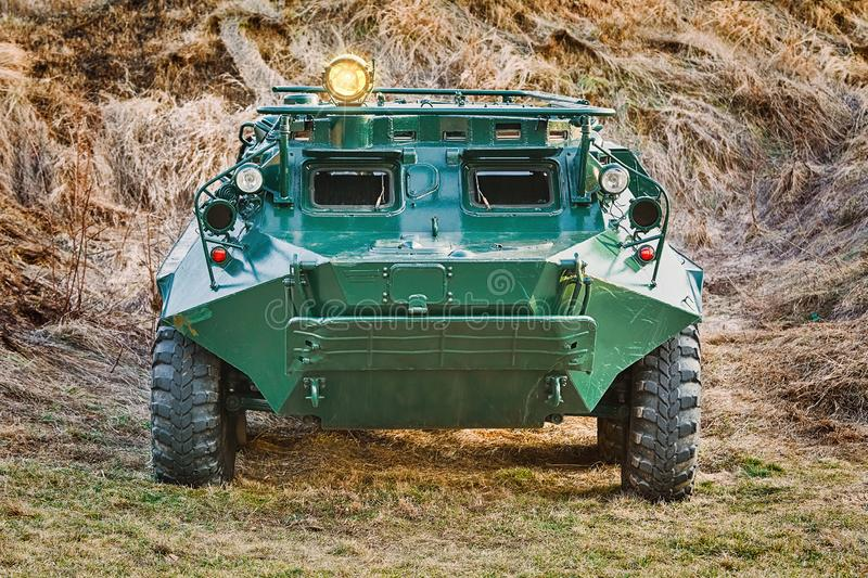 Armoured Personnel Carrier. Soviet Eight-wheeled Armoured Personnel Carrier BTR royalty free stock images