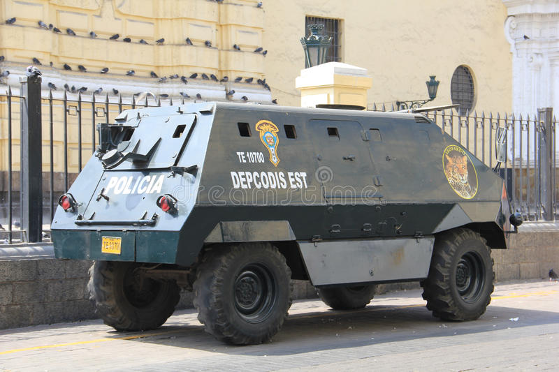 Armoured police vehicle stock photography