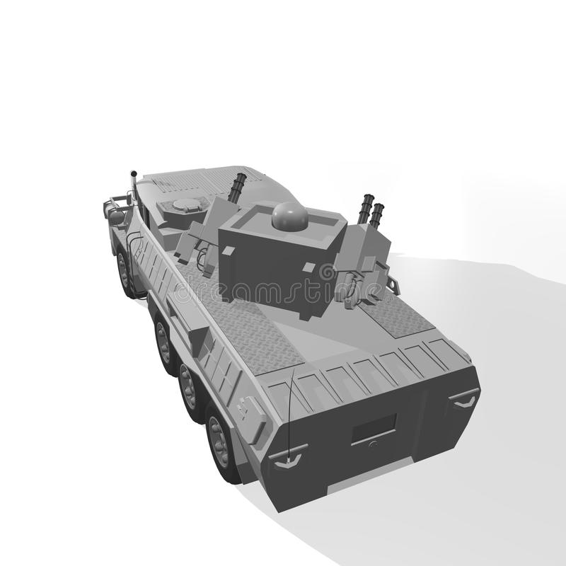 Download Armoured vehicle stock illustration. Illustration of carrier - 30592444