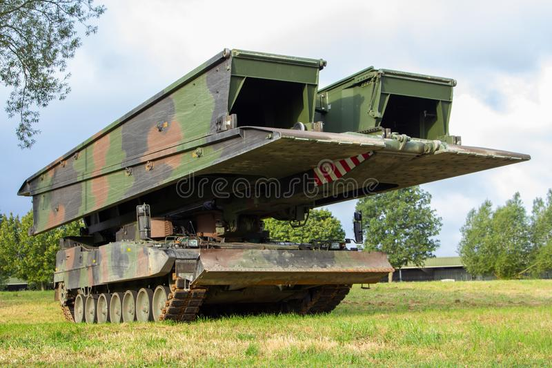 Armoured vehicle launched bridge. From german army stock images