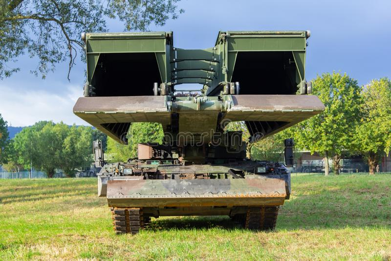 Armoured vehicle launched bridge. From german army stock image