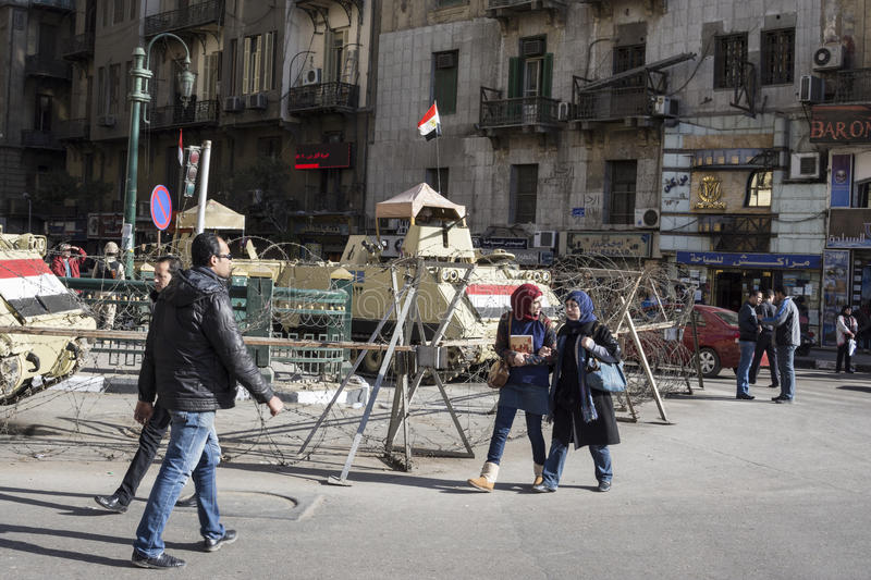 Armoured vehicles in Tahrir Square, Cairo, Egypt. Armoured vehicles in Tahrir Square, Cairo (Egypt stock photography