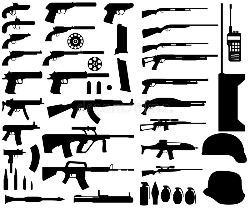 Download Arms stock vector. Illustration of pistol, firearms, police - 28047140