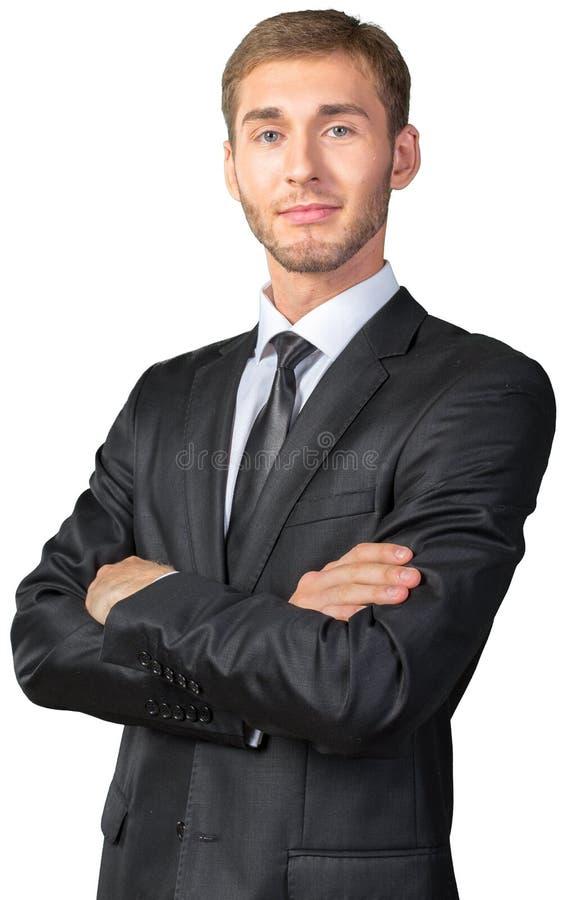 arms affärsmannen korsade hans arkivfoton