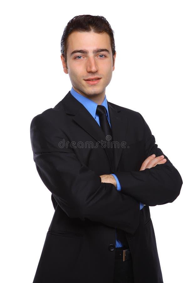 arms affärsmannen korsade ståenden arkivbilder