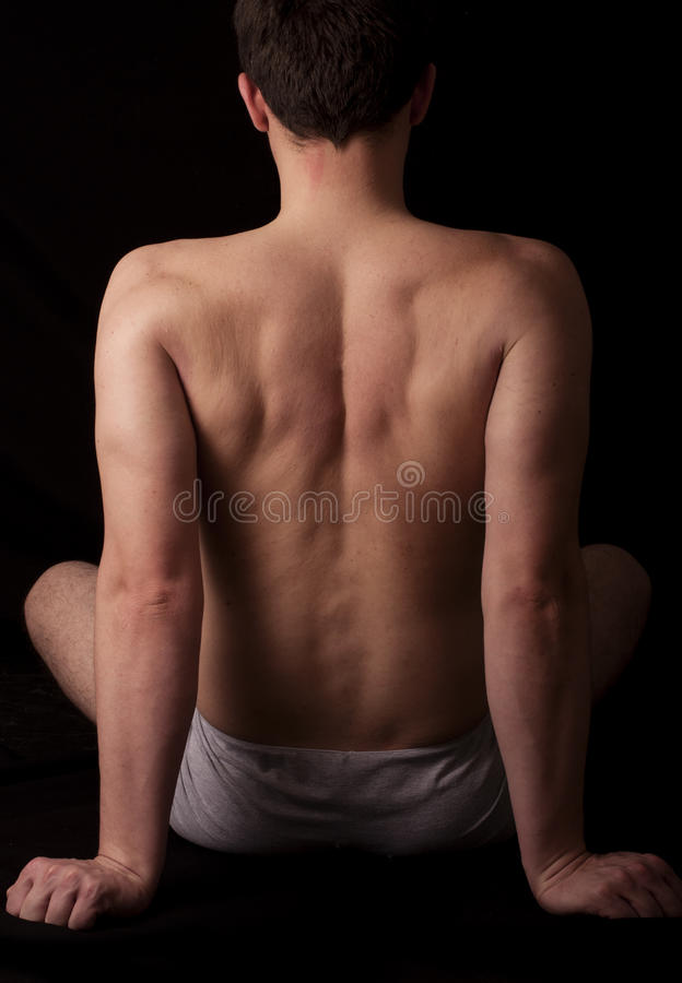 Arms and back stock photography